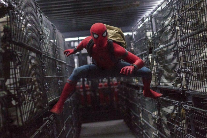 This image released by Columbia Pictures shows Tom Holland in a scene from u201cSpider-Man: Homecoming.u201d Photo: Chuck Zlotnick/Columbia Pictures-Sony via AP