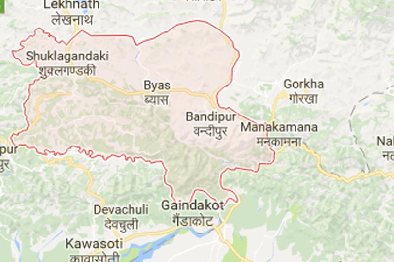 Tanahun district. Source: Google maps