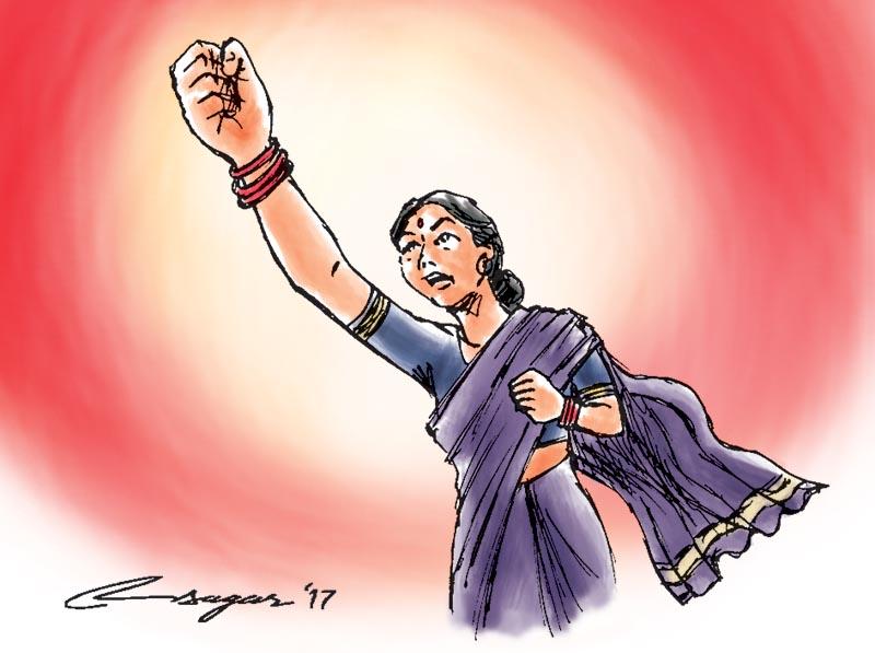 Women rights. Illustration: Ratna Sagar Shrestha/THT
