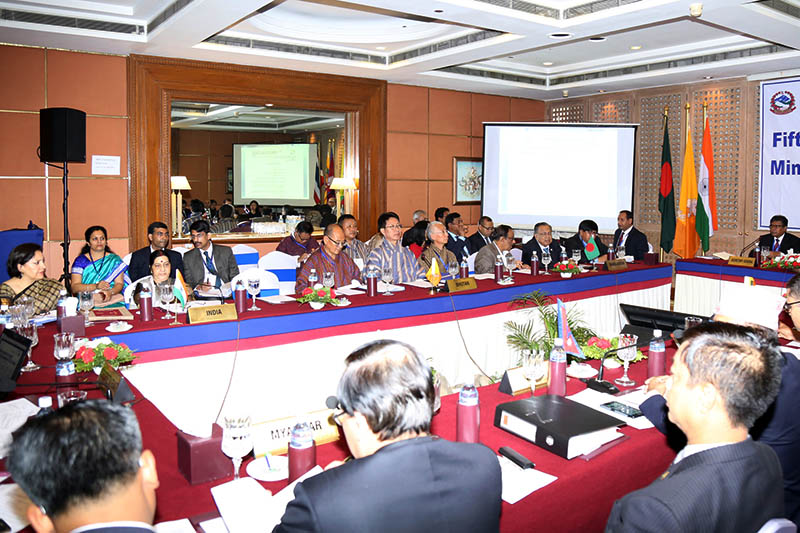 Foreign Ministers of BIMSTC member states attend the 15th Ministerial meeting in Kathmandu, on Friday, August 11, 2017. Photo: RSS
