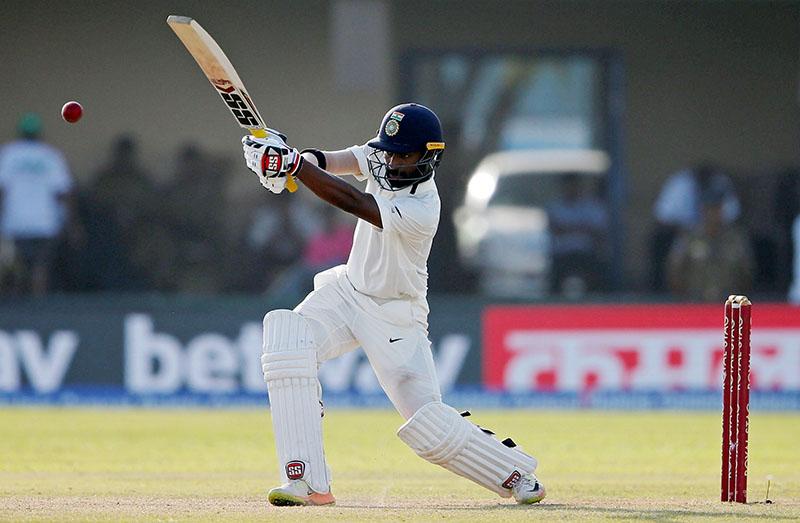 India's Abhinav Mukund plays a shot. Photo: Reuters