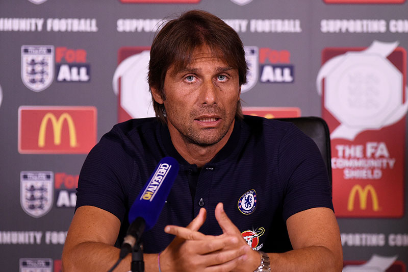 Chelsea manager Antonio Conte during the press conference. Photo: Reuters