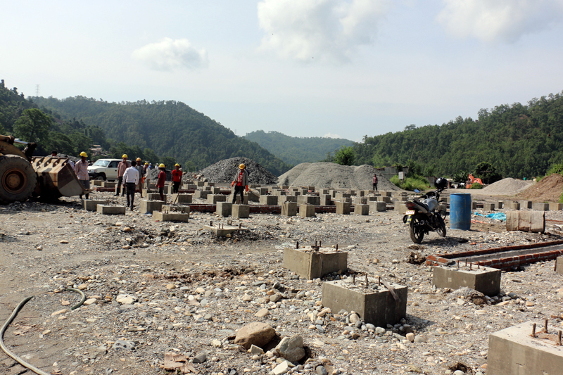 File-A view of the switchyard area of the Arun III hydropower project in Makawanpur district, on Monday, August 7, 2017. Photo: RSS