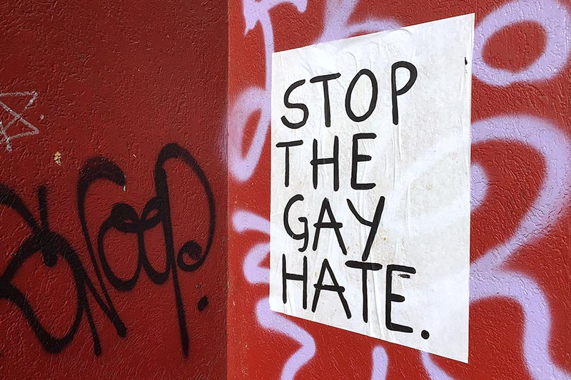A poster placed by same-sex marriage advocates can be seen in a Melbourne laneway ahead of a national postal vote on the issue in Australia,on  August 22, 2017. Photo: Reuters