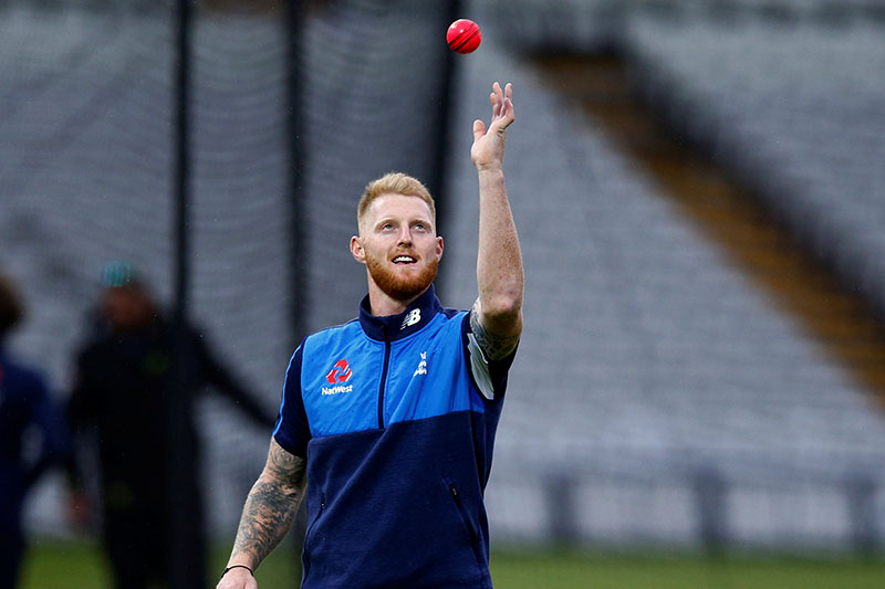 England's Ben Stokes during nets. Photo: Reuters