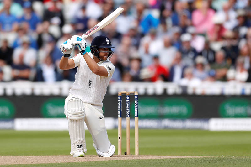 England's Dawid Malan plays a sincilating cover drive aginst West Indies during the first test match cricket at the Oval in England, on Friday, August 18, 2017. Photo: Reuters