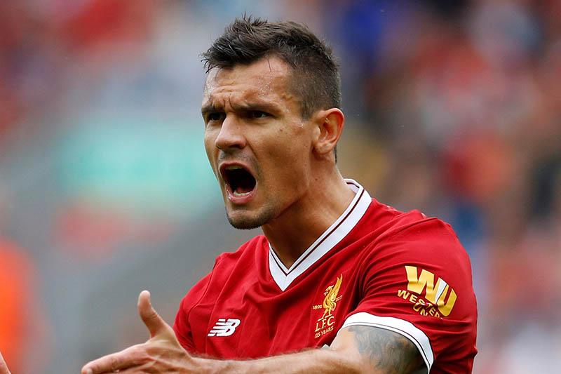 Liverpool's Dejan Lovren reacts. Photo: Reuters
