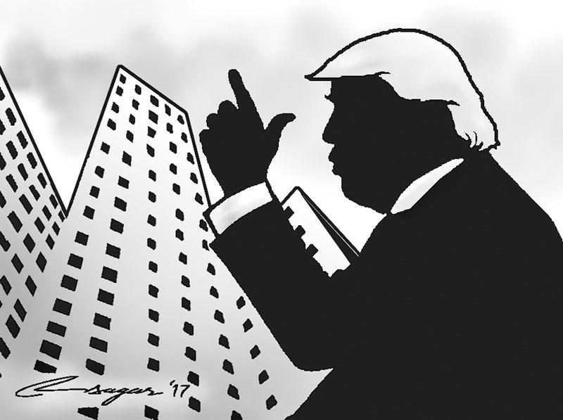 Donald Trump. Illustration: Ratna Sagar Shrestha/THT