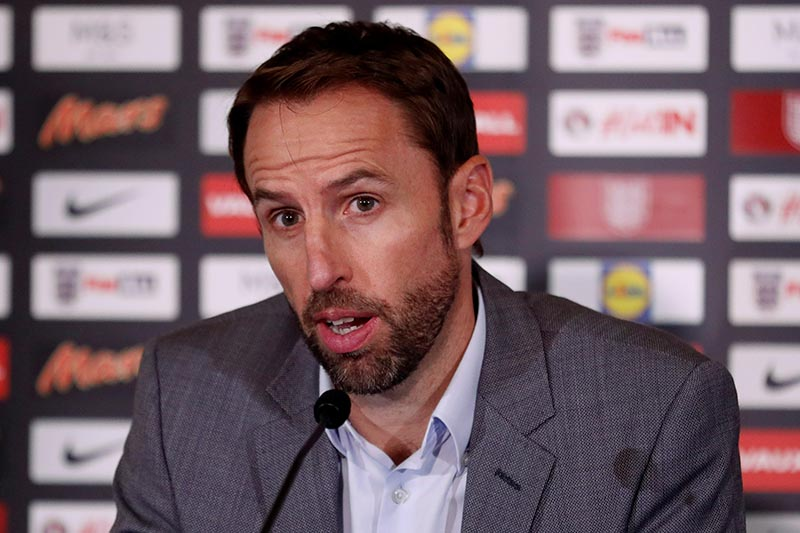 England manager Gareth Southgate during the press conference, in Burton upon Trent, Britain, on August 24, 2017. Photo: Action Images via Reuters