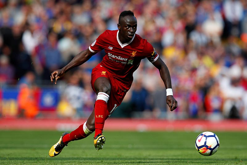 Liverpool's Sadio Mane in action in Premier League match between Liverpool and Crystal Palace, in Liverpool, Britain, on August 19, 2017. Photo: Reuters