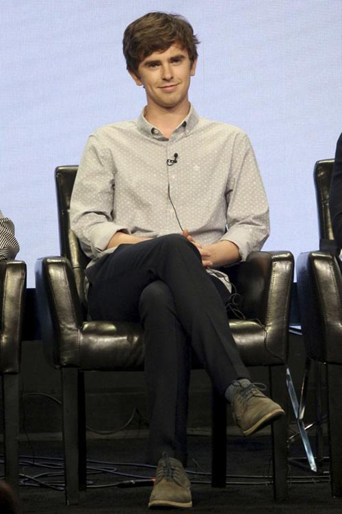 Freddie Highmore participates in the u201cThe Good Doctoru201d panel during the Disney ABC Television Critics Association Summer Press Tour at the Beverly Hilton, in Beverly Hills, California, on Sunday, August 6, 2017. Photo: AP