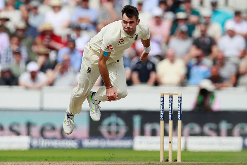 Cricket - England vs South Africa - Fourth Test - Manchester, Britain - August 5, 2017   England's James Anderson in action   Action Images via Reuters/Jason Cairnduff