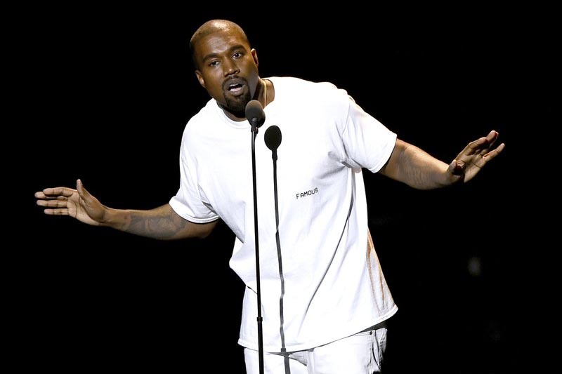 Kanye West speaks at the MTV Video Music Awards in New York, on August 28, 2016. Photo: AP/ File