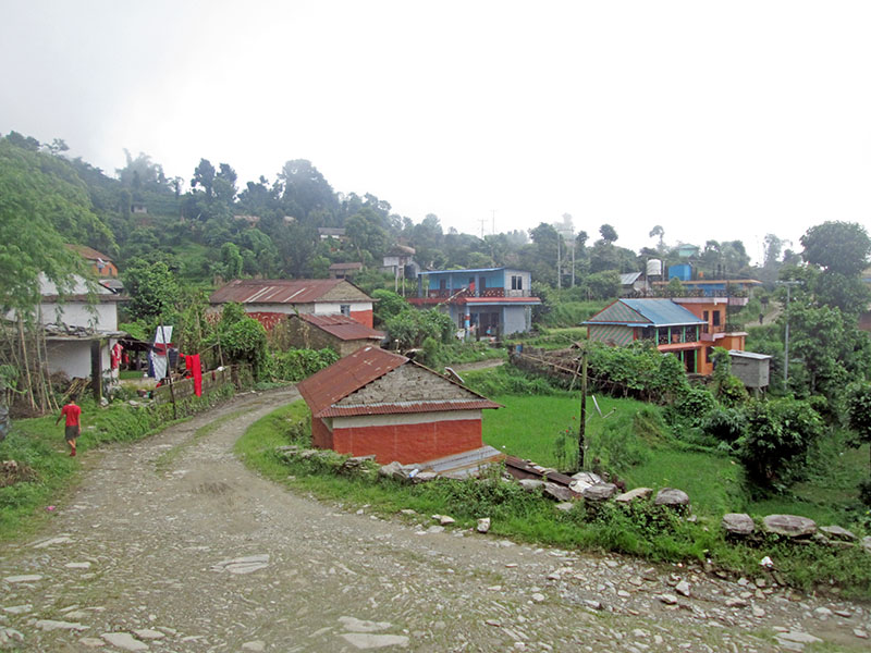 A view of Lukungswara village in Pumdibhimdu in Kaski district, on Wednesday, August 23, 2017. Photo: Rishi Ram Baral