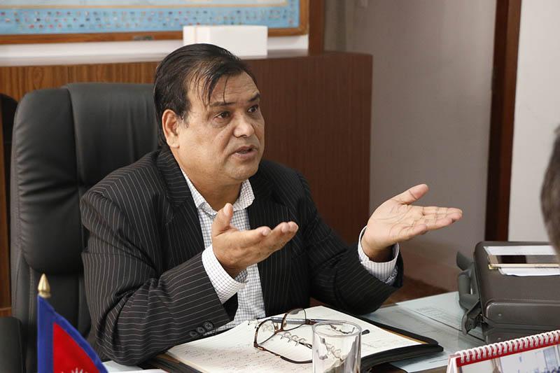 File Photo - Former Speaker Krishna Bahadur Mahara. Photo: RSS