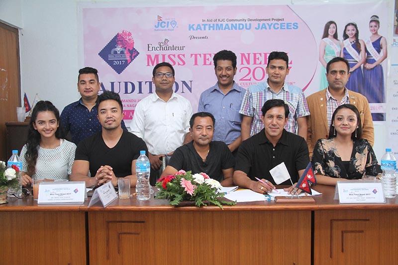 Members of Kathmandu Jaycees pose for a photo at a press conference held in Kathmandu, on Monday, August 28, 2017. Photo: Kathmandu Jaycees Facebook