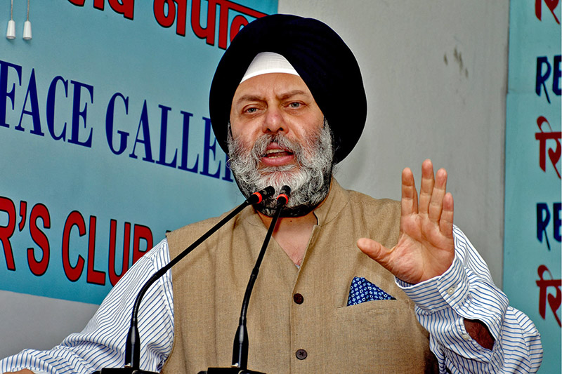 Indian ambassador to Nepal Manjeev Singh Puri speaks at an interaction programme in Kathmandu, on Monday, August 14, 2017. Courtesy: Reporters Club