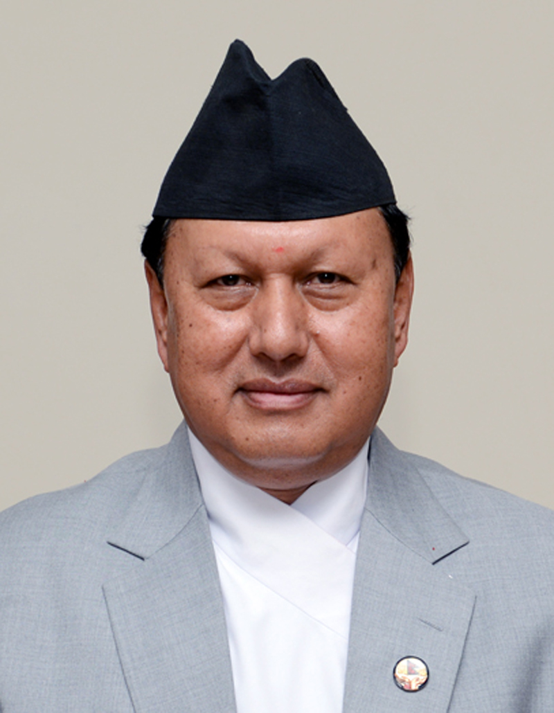Minister for Information and Communications Mohan Bahadur Basnet. Courtesy: MoIC