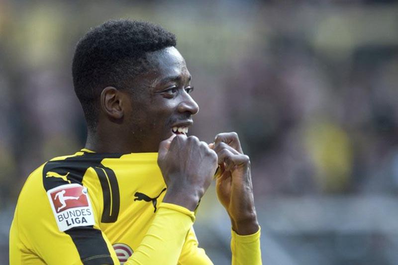 Dortmundu2019s Ousmane Dembele attends the Bundesliga soccer match between Borussia Dortmund and 1. FC Cologne in Dortmund, in April29, 2017. Photo: AP