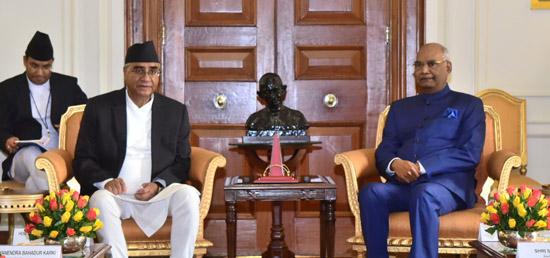 PM Deuba calls on President Ram Nath Kovind at Rastrapati Bhawan in New Delhi, on Thursday, August 24, 2017. Courtesy: Ministry of External Affairs