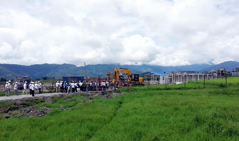 The construction site of Pokhara Regional International Airport in Pokhara, on Wednesday, August 2, 2017. Photo: Rup Narayan Dhakal