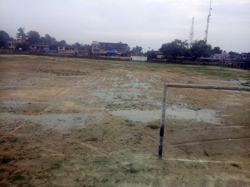 A view of Raj Stadium in Rajbiraj of Saptari district, as captured on Tuesday, August 8, 2017. Photo: Byas Shankar Upadhayay