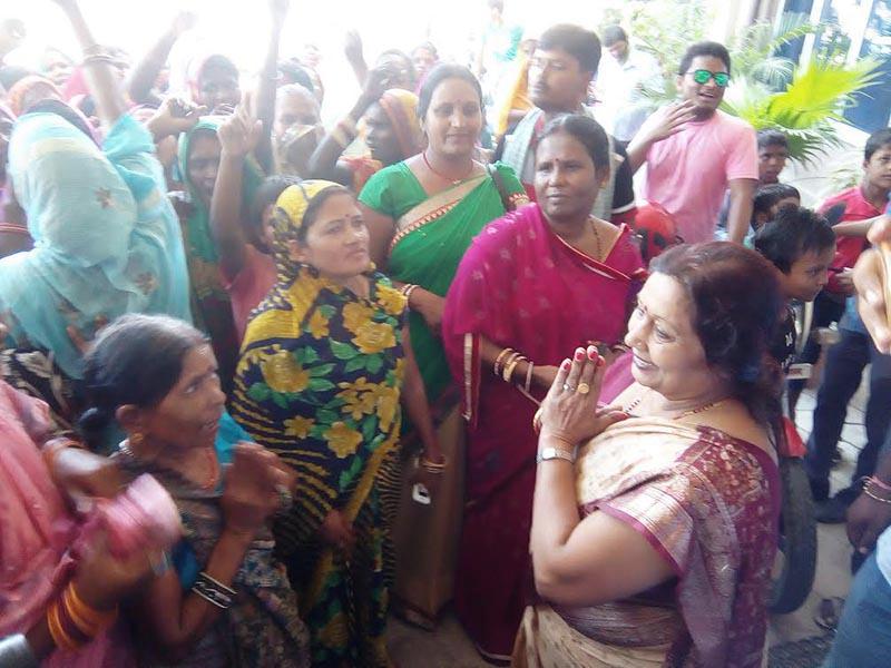 Women leaders of Rastriya Janata Party-Nepal chanting slogans demanding election ticket for deputy mayoral post of Gaur Municipality at Siya Palace Hotel, in Gaur, Rautahat, on Wednesday, August 31, 2017. Photo: THT