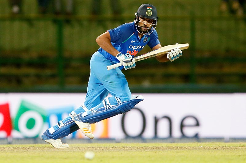 India's Rohit Sharma runs between wickets during the Third One-Day International match between Sri Lanka and India, in Pallekele, Sri Lanka, on Sunday, August 27, 2017. Photo: Reuters