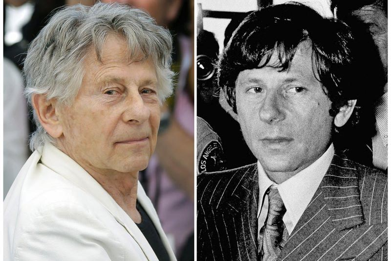 This combination of photo shows director Roman Polanski at the photo call for the film, u201cBased On A True Story,u201d at the 70th international film festival, Cannes, southern France, on May 27, 2017, (left), and Polanski at a Santa Monica, California, courthouse on August 8, 1977. Photo: AP/ File
