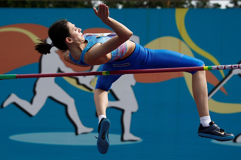 Maria Lasitskene competes in Women's High jump category of Russian Athletics Cup, at Meteor Stadium, in Zhukovsky, Russia, on July 28, 2017. Photo: Reuters