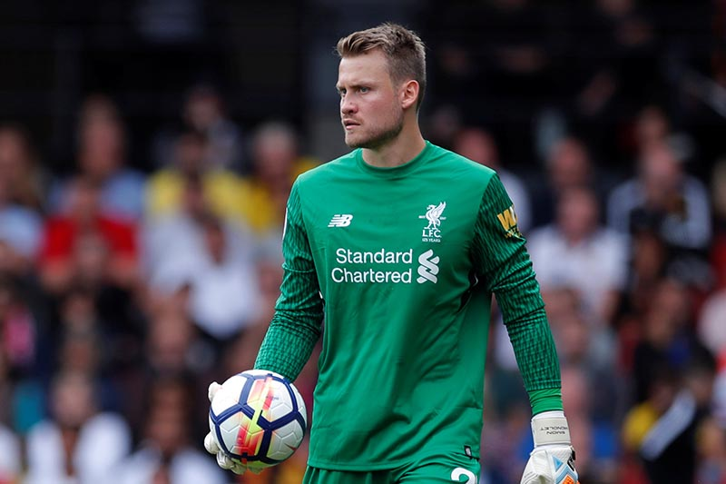 Liverpool's Simon Mignolet holds the ball. Photo: Reuters