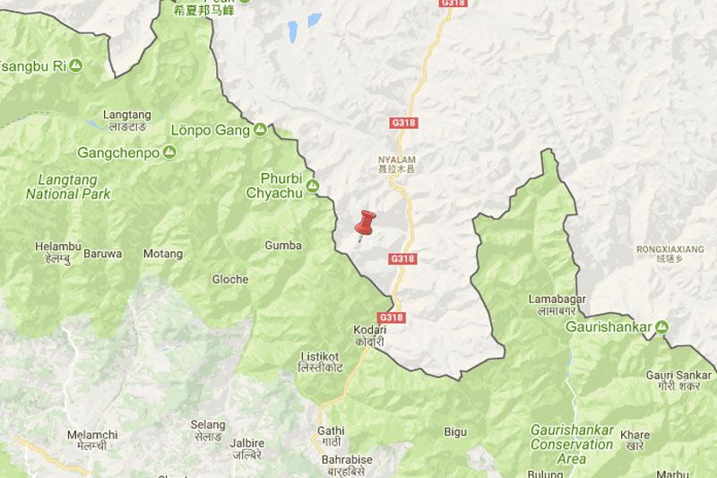 Sindhupalchok-Tibet border aftershock. Source: NSC