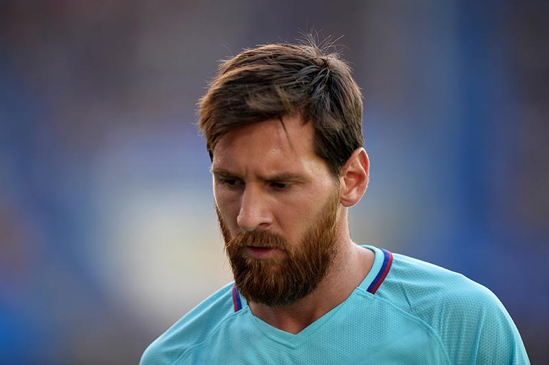Barcelonau2019s Lionel Messi  in Spanish La Liga match between Deportivo Alaves and FC Barcelona, in Vitoria-Gasteiz, on August 26, 2017. Photo: Reuters