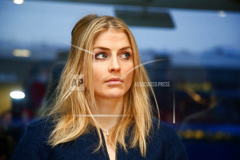 FILE - In this Jan. 25, 2017 file photo Norway's cross country skier Therese Johaug waits for the start of a two day hearing of her doping case, in Oslo.