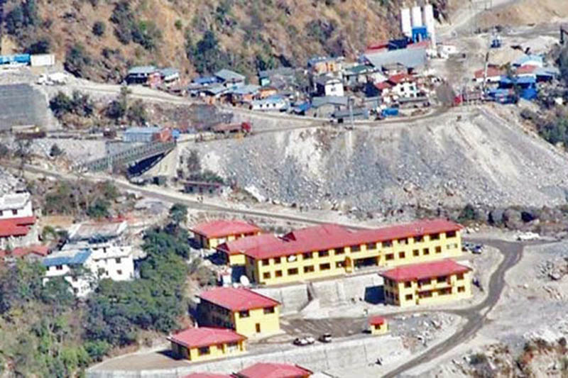 A view of under-construction site of Upper Tamakoshi Hydel Project in Dolakha, on Tuesday, August 1, 2017. Photo: RSS