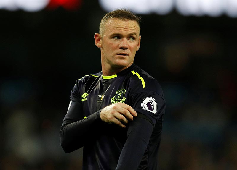 Everton's Wayne Rooney in the Premier League match between Manchester City and Everton, in Manchester, Britain, on August 21, 2017. Photo: Reuters