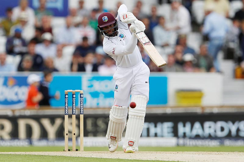 West Indies' Shai Hope in action. Photo: Reuters