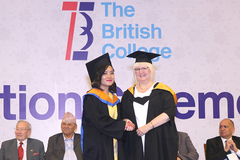 The British College student attending convocation ceremony in Soltee Crown Plaza, Kathmandu, on Friday, September 15, 2017. Courtesy: TBC