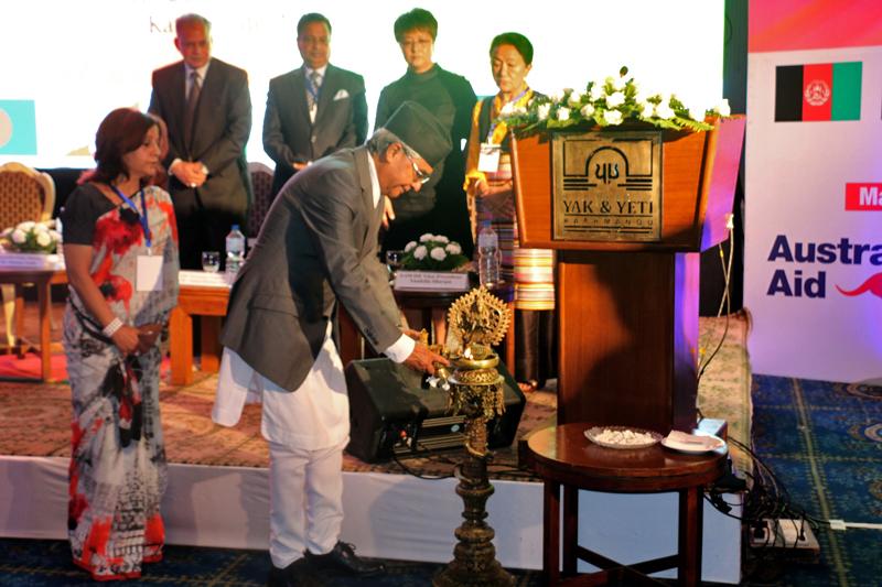 Prime Minister Sher Bahadur Deuba inaugurates the International Business Women's Summit organised by the South Asia Women Development Forum in Kathmandu, on Monday, September 11, 2017. Photo: RSS