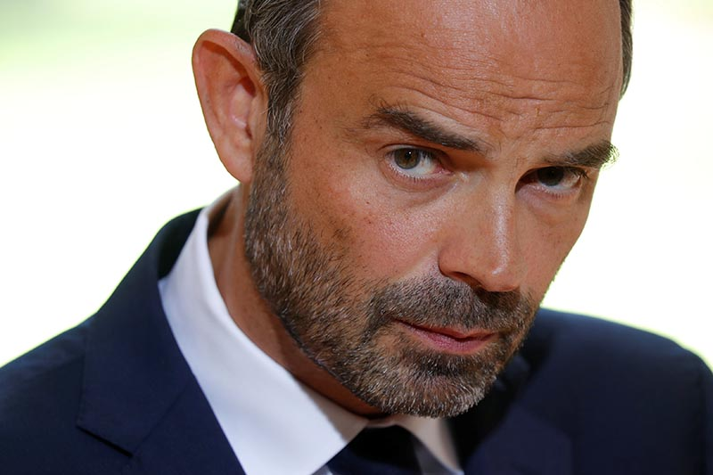 French Prime Minister Edouard Philippe attends a news conference after presenting the government's labour reform bill to the union leaders at the prime minister's Hotel Matignon office in Paris, France, on August 31, 2017. Photo: Reuters