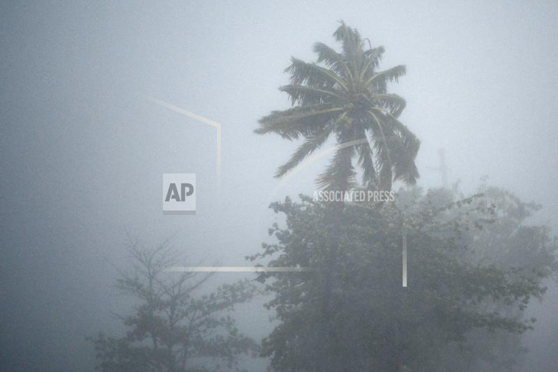 The heavy rains and wind of hurricane Irma cross through the northeastern part of the island in Fajardo, Puerto Rico, Wednesday, September 6, 2017. Photo: AP