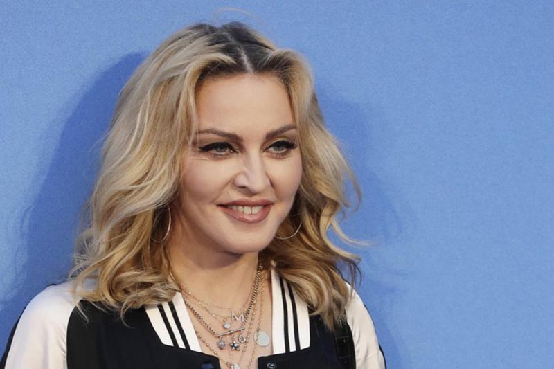 Madonna poses for photographers upon arrival at the World premiere of the film u201cThe Beatles, Eight Days a Weeku201d in London, on September 15, 2016. Photo: AP