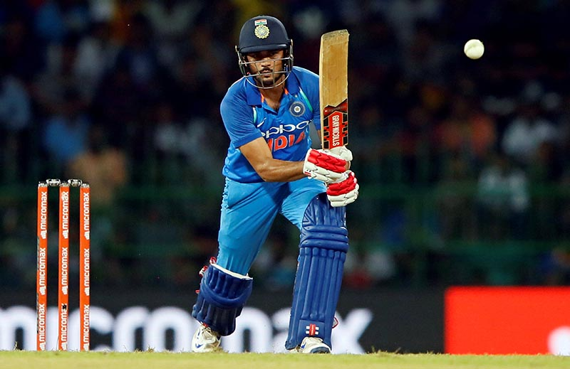 India's Manish Pandey plays a shot. Photo: Reuters