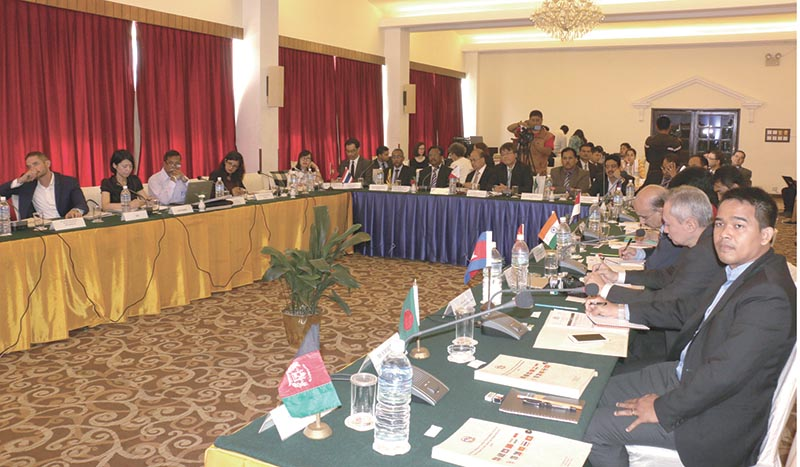 FILE: A meeting of officials of the Colombo Process Member States underway to discuss recommendations for Global Compact for Safe, Orderly and Regular Migration, in Kathmandu, on Wednesday, September 13, 2017. Photo: RSS