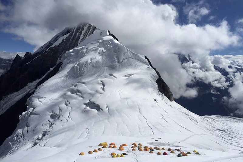 A view of Mt Manaslu Camp-I is seen in this undated photo. Courtesy: Tendi Sherpa/TAG Nepal