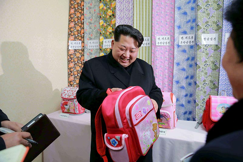 North Korean leader Kim Jong Un provides field guidance to the Kim Jong Suk Pyongyang Textile Mill, in this undated file photo released by North Korea's Korean Central News Agency (KCNA) in Pyongyang on January 28, 2016. Photo: Reuters/KCNA/ File