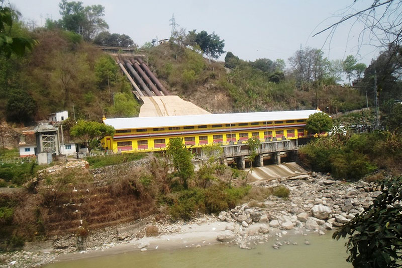 A view of Trishuli hydro power station in Nuwakot district, on Sunday, September 6, 2017. Photo: RSS