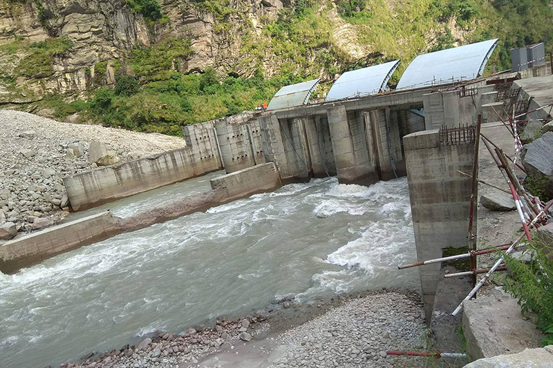 A view of Upper Trishuli hydro power dam in Nuwakot district, on Friday, September 22, 2017. Photo: RSS