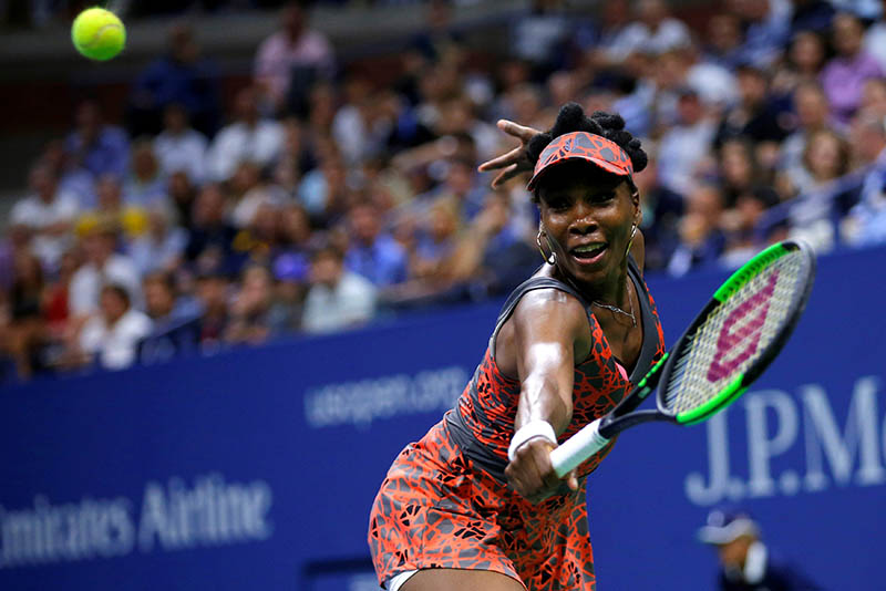 Venus Williams of the United States in action against Petra Kvitova of the Czech Republic. Photo: Reuters