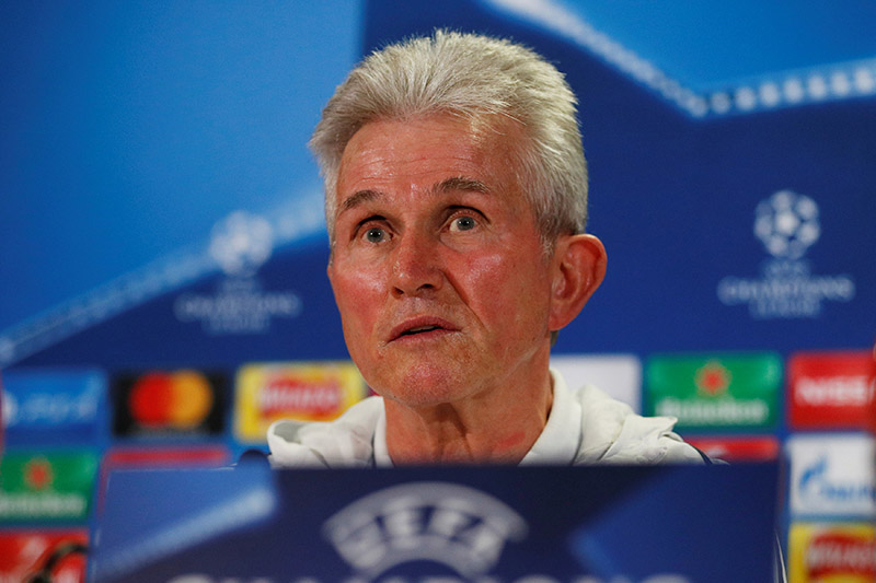 Bayern Munich coach Jupp Heynckes during the press conference. Photo: Reuters